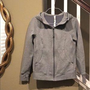 Lululemon gray scuba hoodie